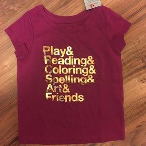 NWT Cat & Jack 2T girls rasberry verbena shirt
